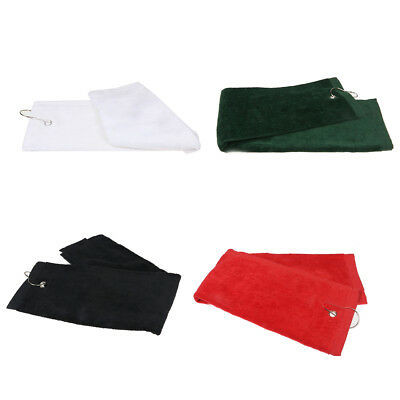 1pcs Golf towel sports towel fitness towel with hook red O6R8