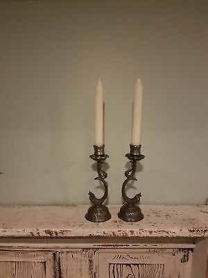 #401, Gobel, vintage candle holders , Pair, Hand Forged Iron,  Western  Germany
