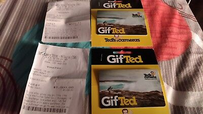 $1529 Worth Of Ted's Cameras Gift Cards