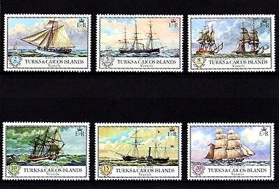 Turks & Caicos - 1980 - Sailing Ship - Sloop - Packet - Privateer + 6 X Mnh Set!