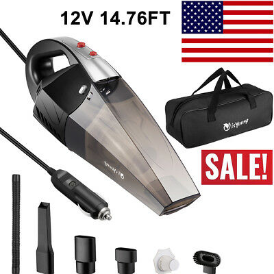 Portable Car Vacuums Cleaner Vehicle Handheld Wet Dry Dirt Dust Duster 12V 120W