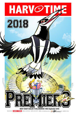 Harv Time 2018 Losing Afl Grand Final Poster Collingwood Limited Edition