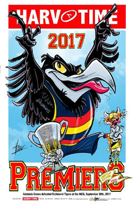 Harv Time 2017 Losing Afl Grand Final Poster Adelaide Crows Limited Edition