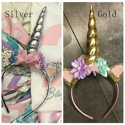 Decorative Hair Band Unicorn Horn Tiara Headband Headwear Fancy Dress Costumes