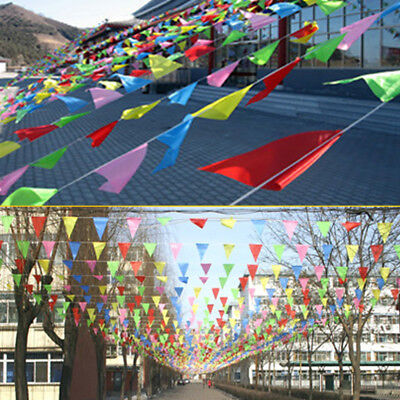 80M Triangle Flags Bunting Banner Pennant Festival Wedding Party Decor EA