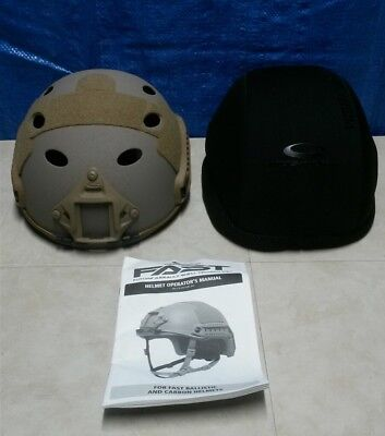 Ops Core FAST Carbon High Cut Helmet , Large/XLarge , Urban Tan w/Padded Cover