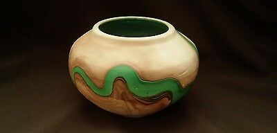 VTG VASE CRIPPLE CREEK COLORADO garden gods POTTERY BOWL SWIRL CLAY