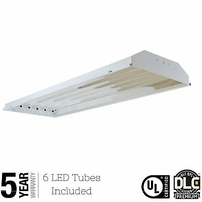6 Bulb / Lamp T8 LED High Bay Warehouse, Shop, Commercial Light Fixture NEW VP