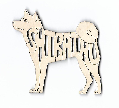 Shiba Inu Dog laser cut and engraved wood Magnet