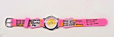 The Kids Watch Company Ten Commandments Watch One Size Pink Band