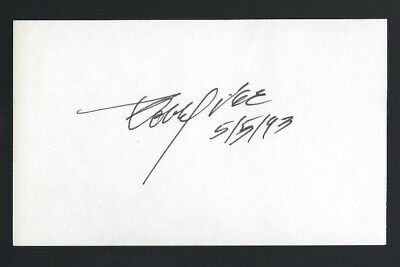 "Bobby Vee signed autograph 3""x 5"" card Rock & Pop Singer Teen Idol"
