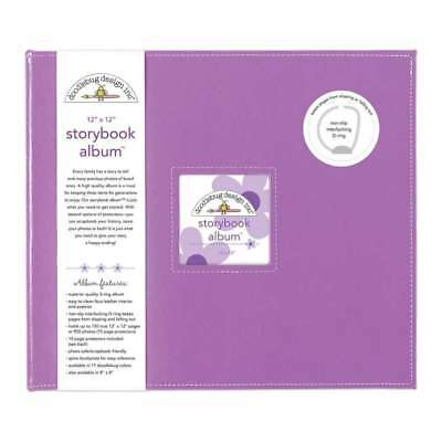 NEW Doodlebug Storybook Album 12 inch X12 inch Lilac
