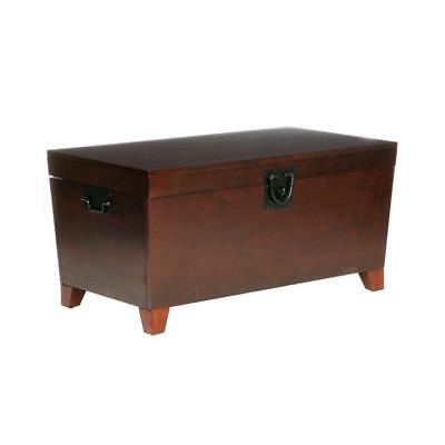 Wood Table Coffee Rectangle Pyramid Espresso Antique Design Blanket Trunk