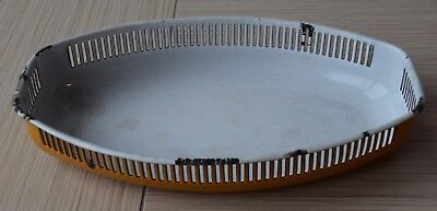 Brotkorb/ Obstschale Email/ Emaille, Vintage! Shabby chic