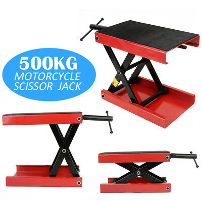 Motorcycle Motorbike Bike Stand Scissor Lift Jack Paddock Workshop Bench 1100LB