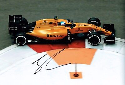 Jolyon PALMER British Racing Driver SIGNED F1 Race Photo AFTAL Autograph COA