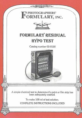 Photographers Formulary 03-0150 Residual Hypo Test for Darkroom