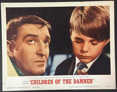 Alan Badel C.Powell passes impossible test Children of Damned #6 lobby card 938