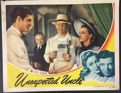Charles Coburn Anne Shirley James Craig Unexpected Uncle 1941 lobby card 1579
