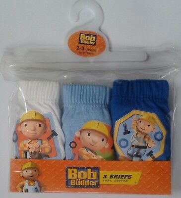 3 x Pairs Boys BOB THE BUILDER Briefs Pants Underwear 18m 2 3 4 5 Years Cotton