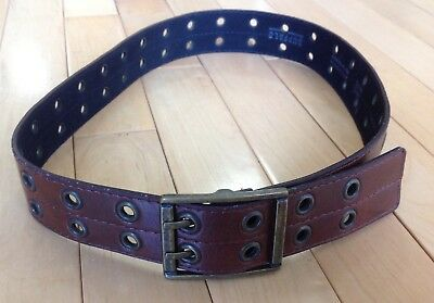 Buffalo Brown Double Hole Belt with Square Brass Buckle Size Small