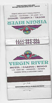 Vintage Matchbook Cover From Virgin River Hotel/Casino/Bingo in Mesquete, Nevada