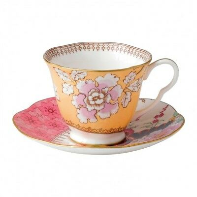 Wedgwood Butterfly Bloom Floral Bouquet Teacup & Saucer - Set of 4