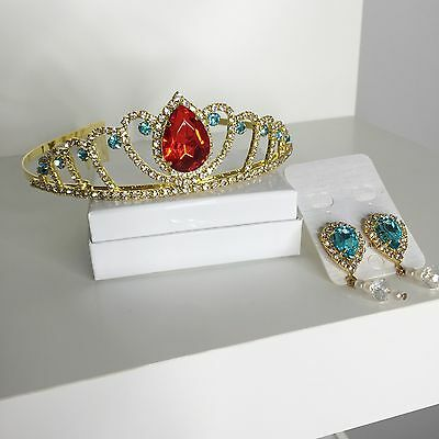 Princess Elena Of Avalor Crown and Earrings (for pierced ears)