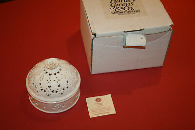 Past Times Leeds Pottery Creamware Pot-Pourri Bowl
