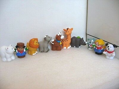 10 Figurines Little People Personnages Animaux F55