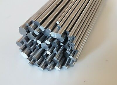Silver Steel Round Bar 3mm to 8mm Diameter, 330mm Long - Props Shafts Axles Dies
