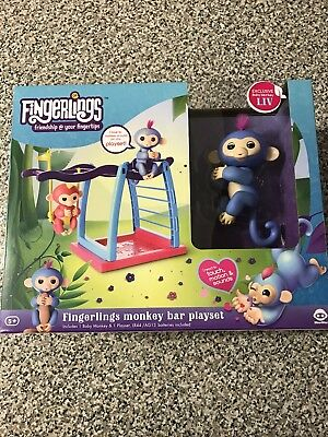 For Fingerlings Baby Monkey Playground Seesaw Climbing