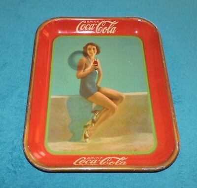 "Rare Original 1933  Coca Cola Tray,  ""  American Art Works,inc.  ""  Nice  """