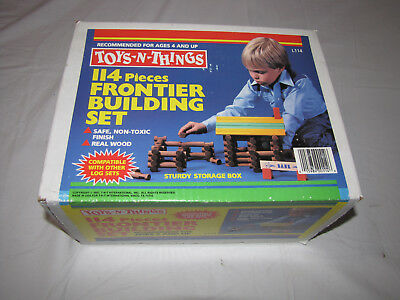 1987 Toy-N-Things 114 Pieces Frontier Building Set - Brand New Still Sealed