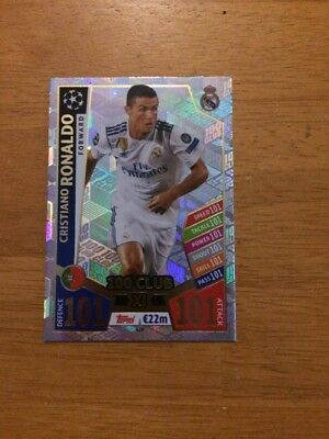 Match Attax Uefa Champions League 2017/18 Cristiano Ronaldo 100 101 Club No 428