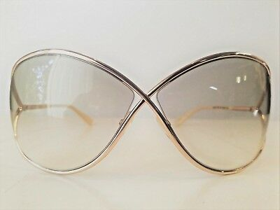 a987896252c New Tom Ford Miranda 68mm Open Temple Oversize Metal Sunglasses Made in  Italy