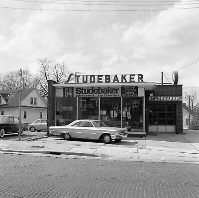 1964 Studebaker Dealership front of Showroom 8 x 8 Photograph