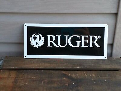RUGER FIREARM METAL SIGN 9MM Eagle Logo Gun Shop HUNTING 5x12 50074