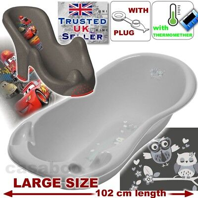 SET LARGE 102cm length Baby Bath Tub with +seat disney cars & THERMOMETHER&DRAIN