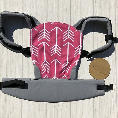 Doll Carrier- Mini Soft Structured Carrier - Pink Arrow