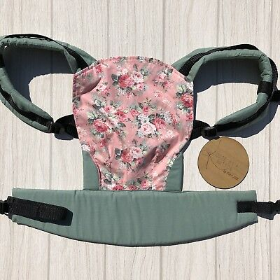 Doll Carrier- Mini Soft Structured Carrier - Peach Floral