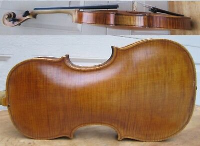 "Antique ""hopf""- Stamped 4/4 Violin , One Piece Back ."
