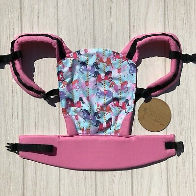 Doll Carrier- Mini Soft Structured Carrier - Carousel