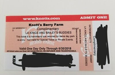 4 Knotts Berry Farm Tickets Valid Through 6/30/18 ($70+ Each  At The Door)