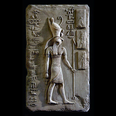 Horus ancient Egyptian Wall Relief Sculpture Plaque reproduction replica