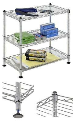 "Muscle Rack Ws181018-C Steel Adjustable Wire Shelving, 3 Shelves, Chrome, 18"" He"