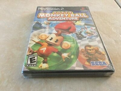 Super Monkey Ball Adventure (Sony PlayStation 2, 2006) PS2 NEW