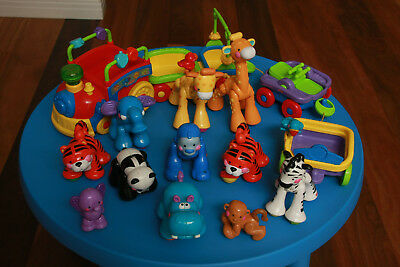 Fisher Price Amazing Animals Train perfect working order - massive toy cleanout