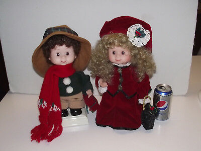 2 rare animated vtg undercover kids santas best dolls christmas carolers claus - Animated Christmas Dolls