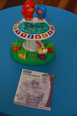 Fisher Price Laugh and Learn Learning Birdbath - massive toy cleanout VGC